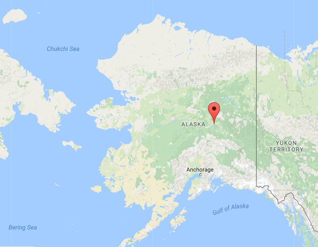 Fairbanks is located in the interior of Alaska, just south of the Arctic Circle