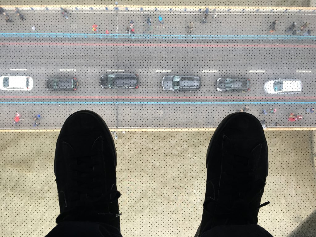 View from glass floor