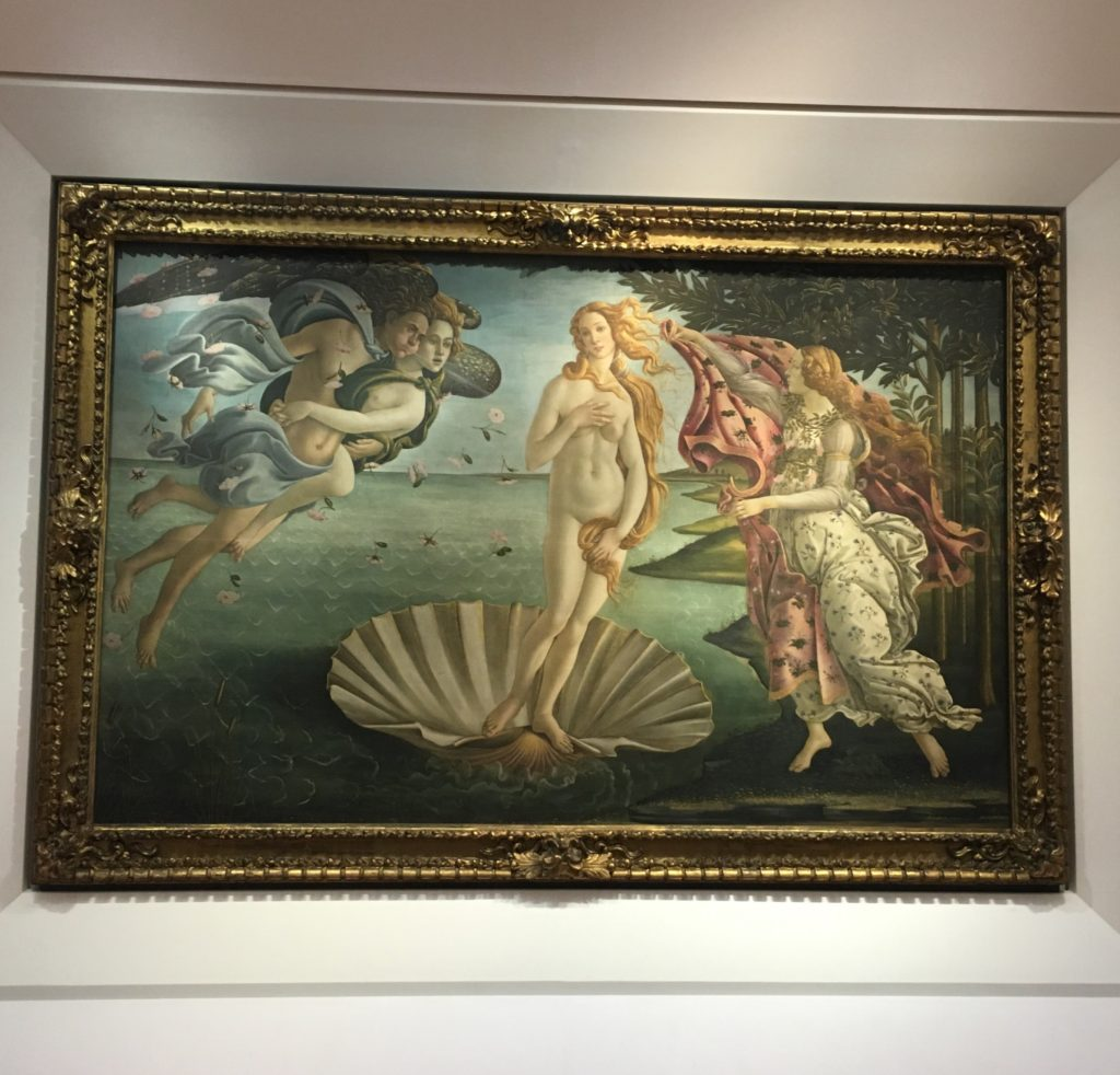 Sandro Botticelli's The Birth of Venus (at the Uffizi Gallery)