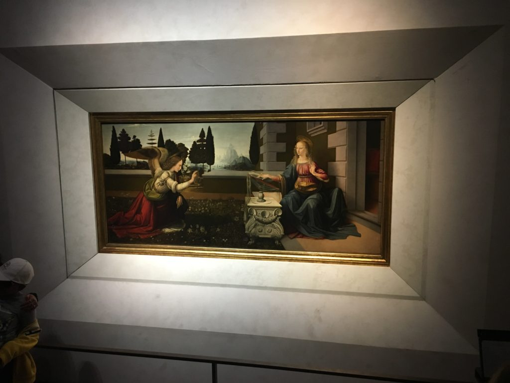 Leonardo da Vinci's Annunciation (at the Uffizi Gallery)