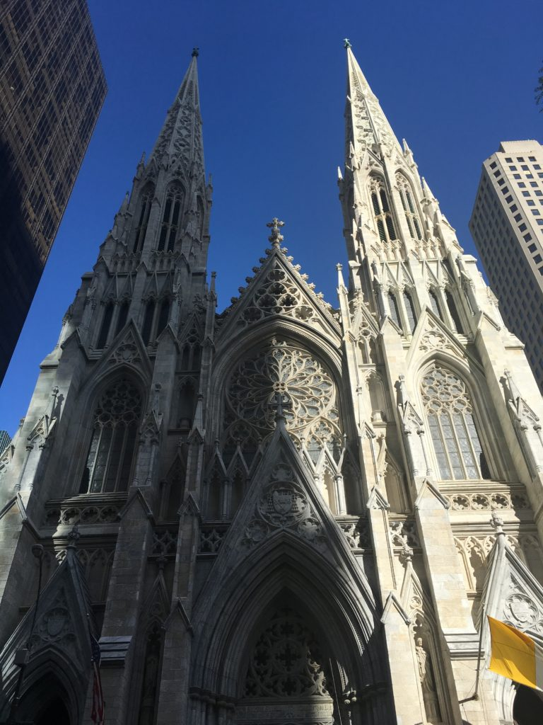 The entrance to St Patrick's Cathedral