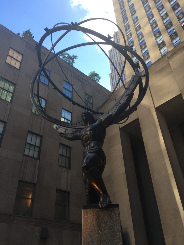 Statue of Atlas, located in front of Rockefeller Center