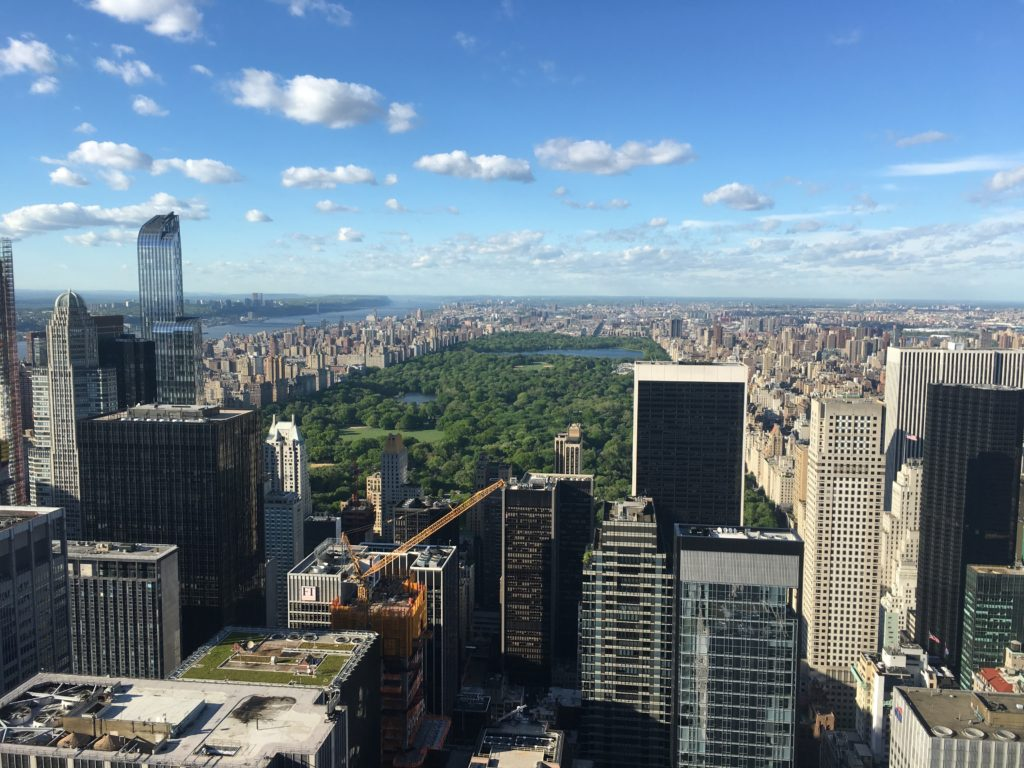 View facing Central Park