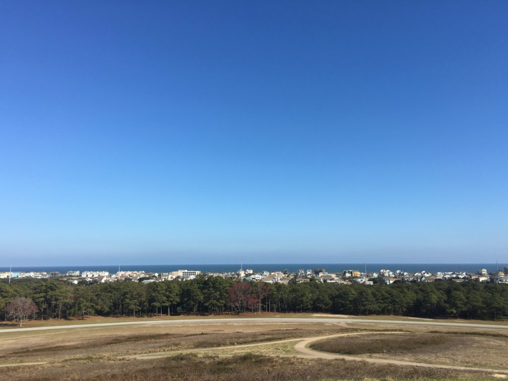 View from Wright Brothers National Memorial, Kitty Hawk