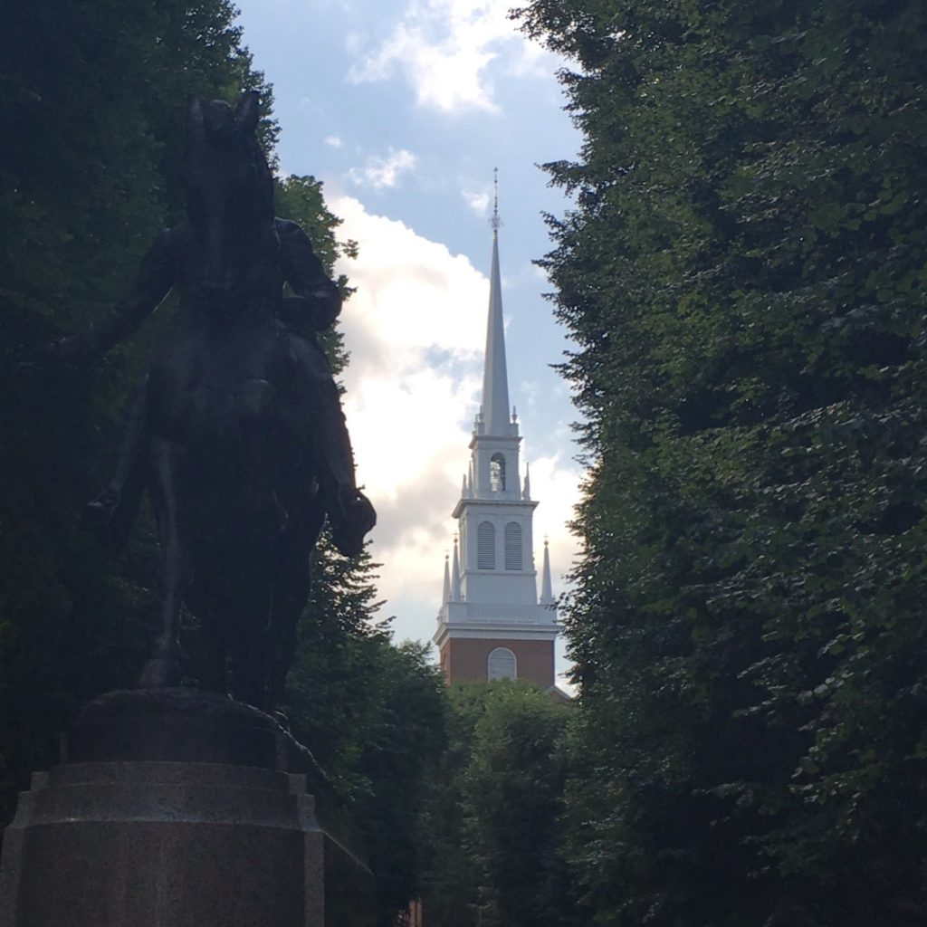 Paul Revere Statue and Old North Church