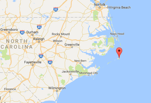 Location of Hatteras Island, Outer Banks