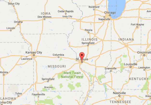 Location of St Louis